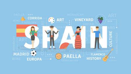 Spain concept illustration.