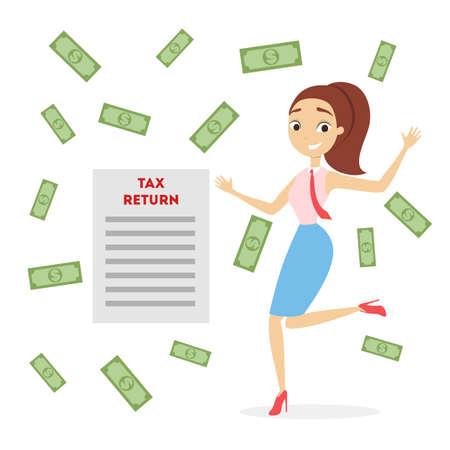 Belastingaangifte illustratie.