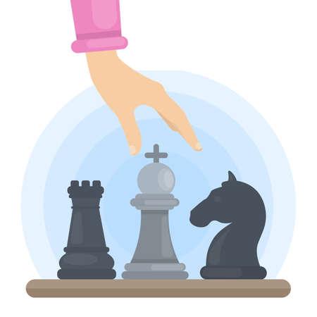 Woman playing chess.
