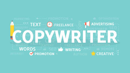 Copywriter concept illustration.