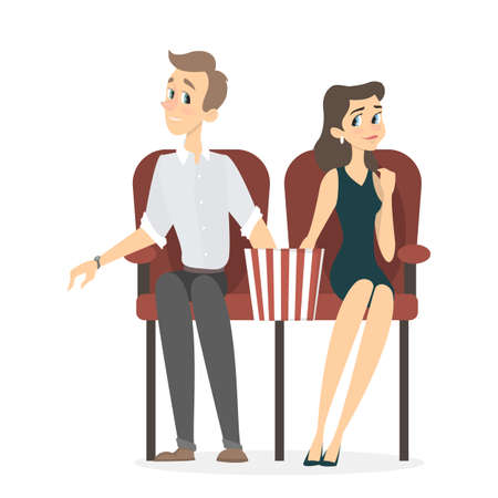 Couple at cinema.