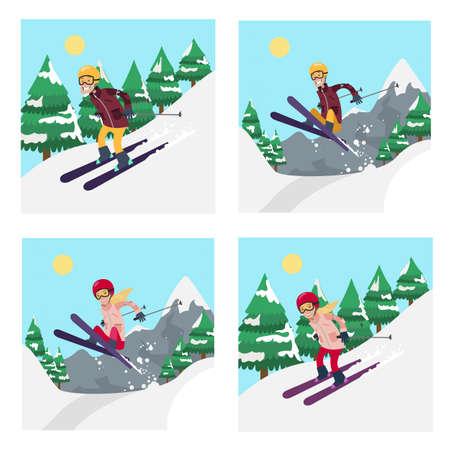 People on ski set.