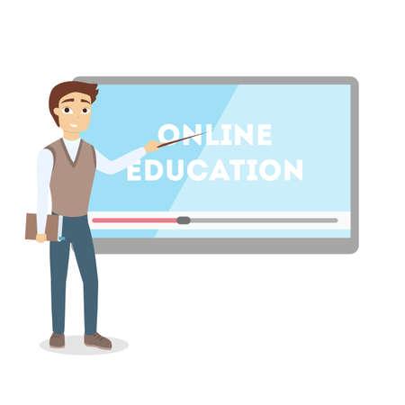 Online education concept.