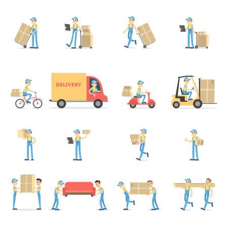 Delivery service set.