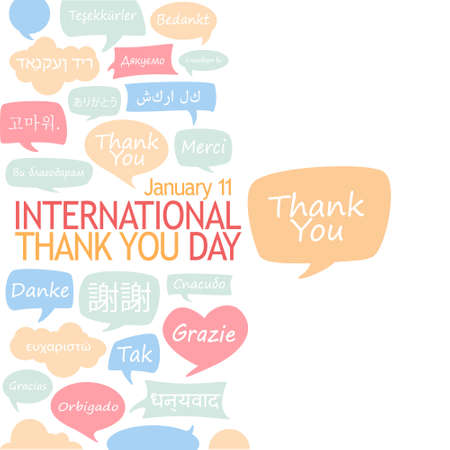 International Thank You Day. Ilustração