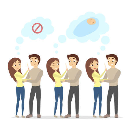 Pregnancy test illustration.