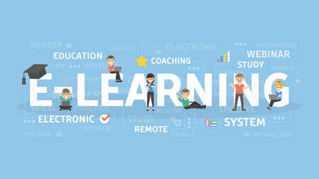 E-learning concept illustration. Idea of online education.