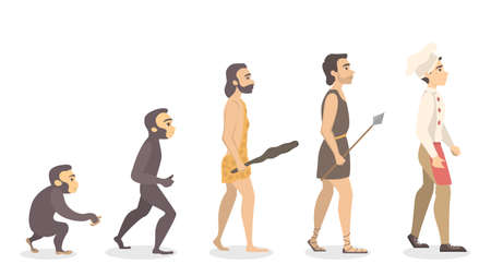 Evolution of man. From monkey to chef.