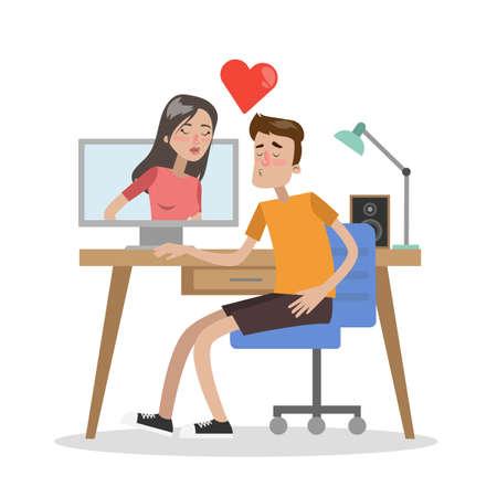 Para randki online za pomocą komputera. Uwielbiam rozmawiać z całowaniem.
