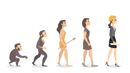 Evolution of woman. From monkey to engineer.