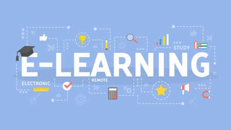 E-learning concept illustration. Idea of online education.