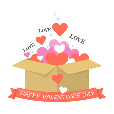 Happy valentines day on plain background.