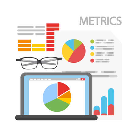 Metrics concept illustration. Ilustrace