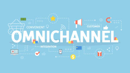 Omnichannel concept illustration. Idea of service, strategy and integration.