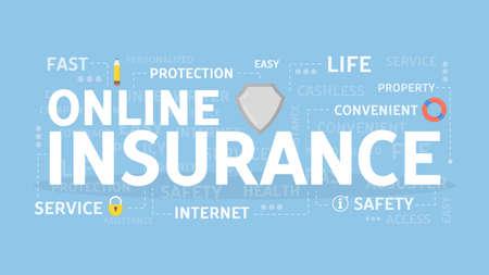 Online insurance concept.