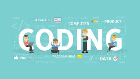 Coding concept illustration.