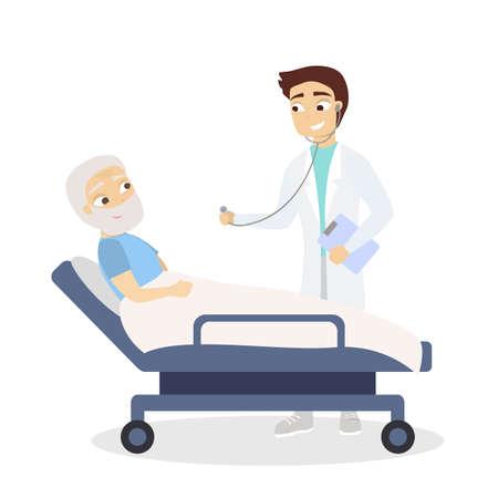 Doutor e paciente idoso
