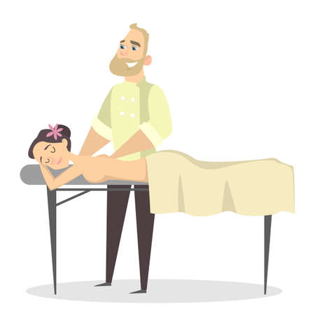 Massage therapy with man.