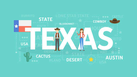 Welcome to Texas. Illustration