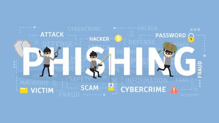 Phishing-Konzept Illustration. Standard-Bild - 94403638