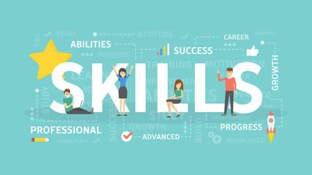 Skills concept illustration. Illustration