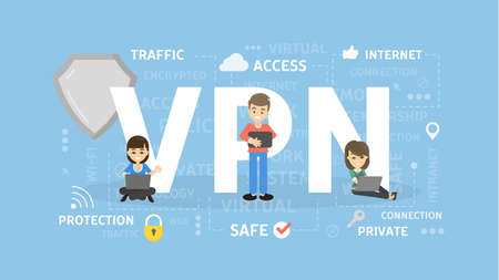 VPN concept illustration.