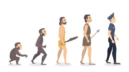 Evolution of man. From monkey to police officer.