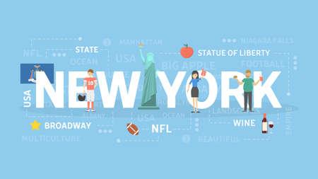 New York template design Illustration
