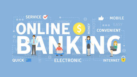 Online banking concept illustration. Idea of fast payment through internet.