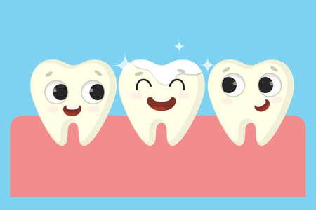 Funny cartoon teeth