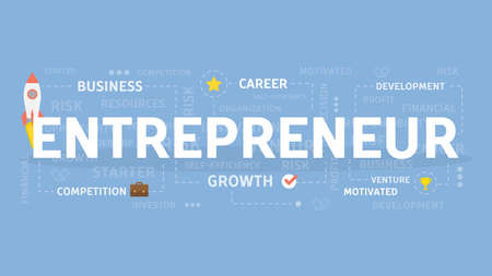Entrepreneur concept illustration. Idea of venture, business and career.