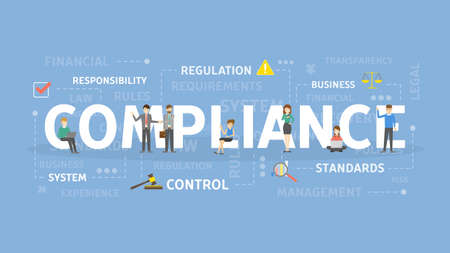 Compliance concept illustration. Idea of responsibility, standarts and control. Vectores