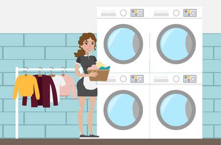 Laundry at hotel.