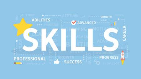 Skills concept illustration.  イラスト・ベクター素材