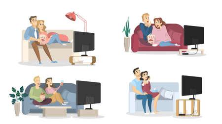 People watching TV.