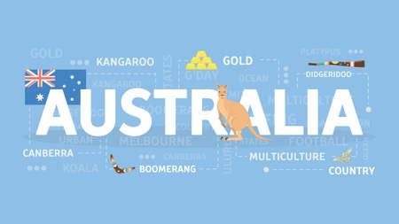 Welcome to Australia banner. Illusztráció