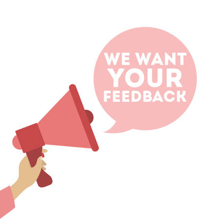 We want your feedback banner. Illustration