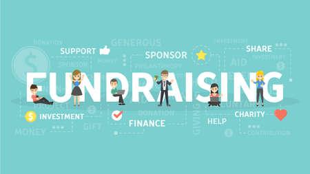 Fundraising concept illustration.