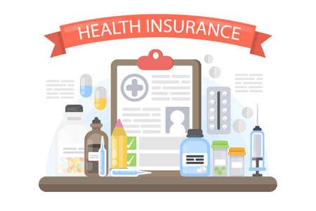 Health insurance illustration. Ilustração