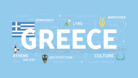 Welcome to Greece illustration.