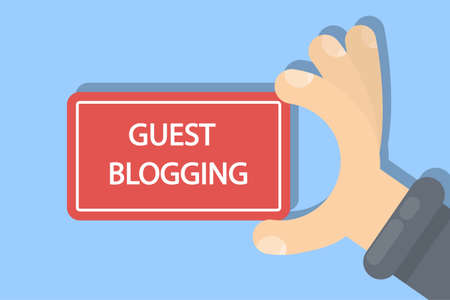 Guest blogging sign illustration.