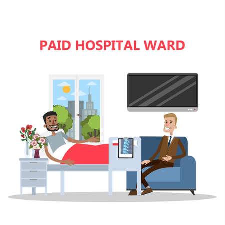 Paid ward in hospital illustration.