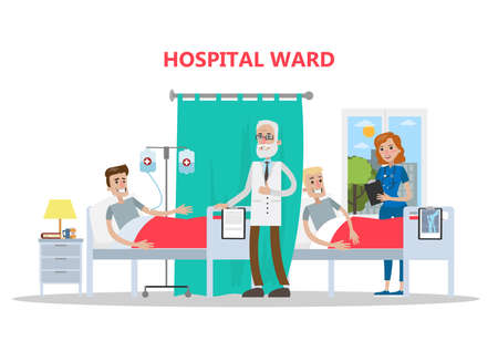 Ward in hospital. 일러스트