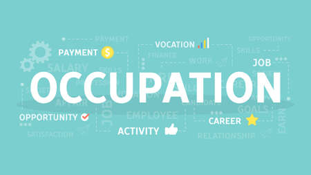 Occupation concept illustration. Çizim