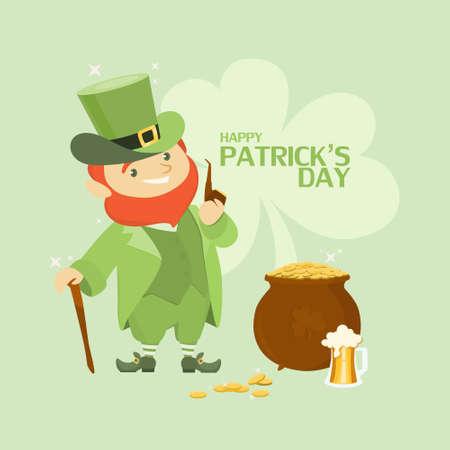 St. Patricks day illustration.