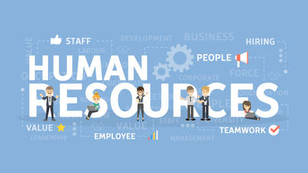 Human resources concept illustration.