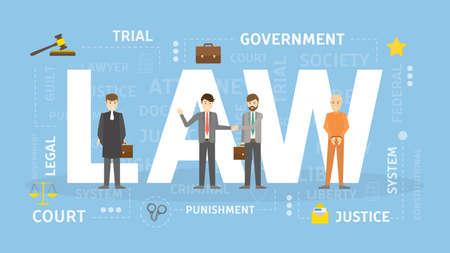 Law concept illustration. 免版税图像 - 95842007