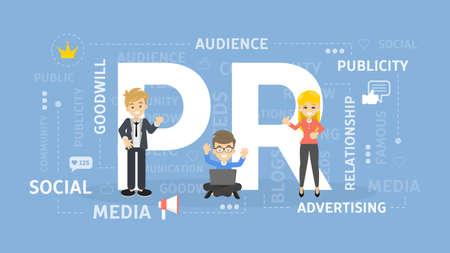 Illustration de concept de PR.