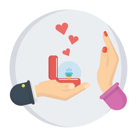 Say no to propose illustration.