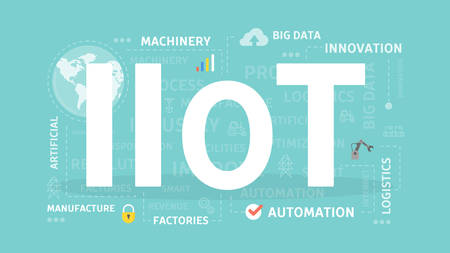 Industrial Internet of things. Vettoriali